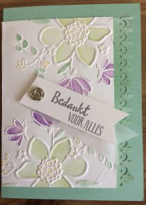 tampin'Up! Lovely Floral Dynamic Textured Embossing folder