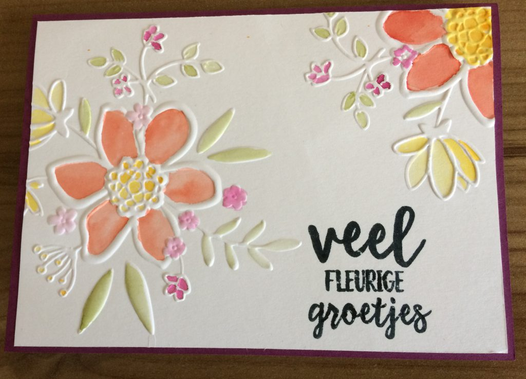 Stampin'Up! Lovely Floral Dynamic Textured Embossing folder