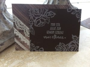 Stampin'Up! Wood Textures Enveloppen