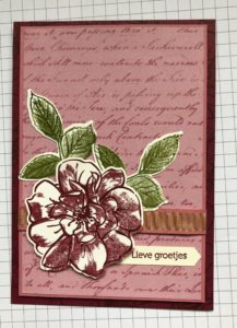 Stampin'Up! To a Wild Rose